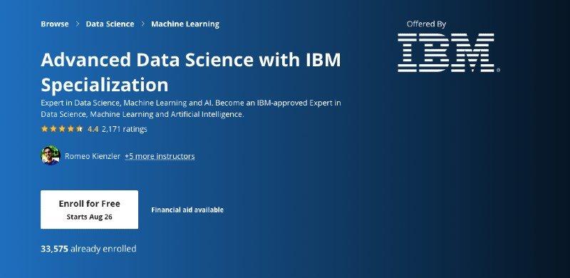 Advanced IBM course on Coursera