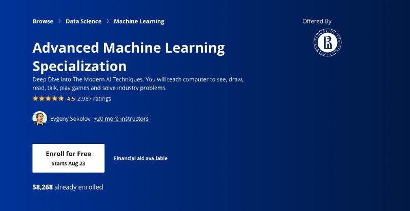 Coursera's advanced ML specialization