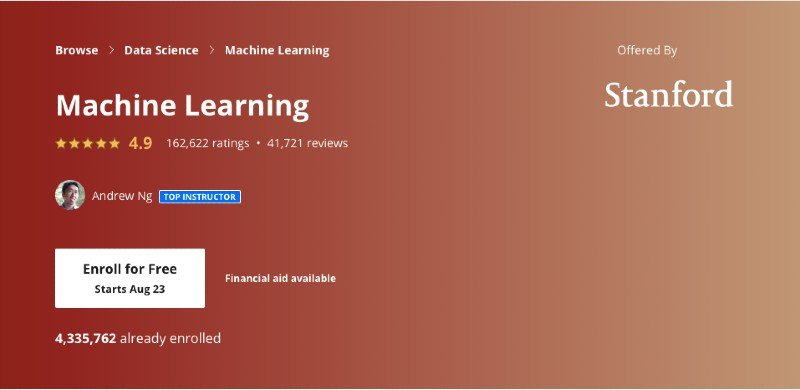 Coursera's beginner machine learning course