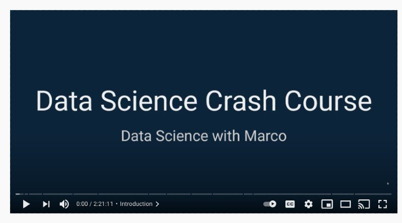 freeCodeCamp's data science crash course