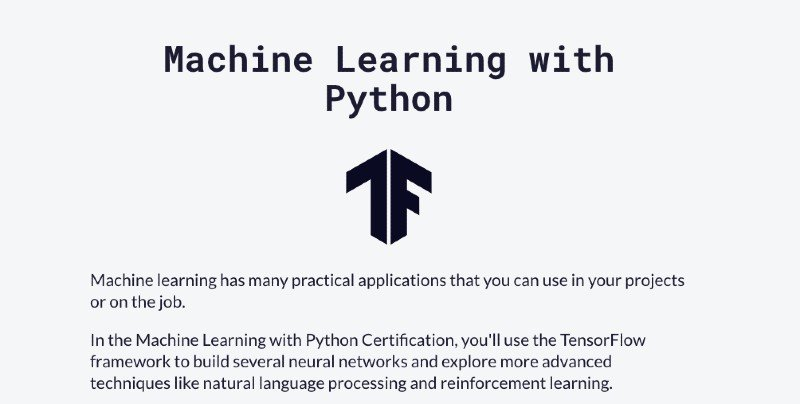 freeCodeCamp's machine learning course